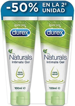 Durex Naturals Lubricante a Base de Agua, 100% Natural sin Fragancia, Colorantes ni Agentes Irritantes – Pack 2 x 100 ml: Amazon.es: Salud y cuidado personal