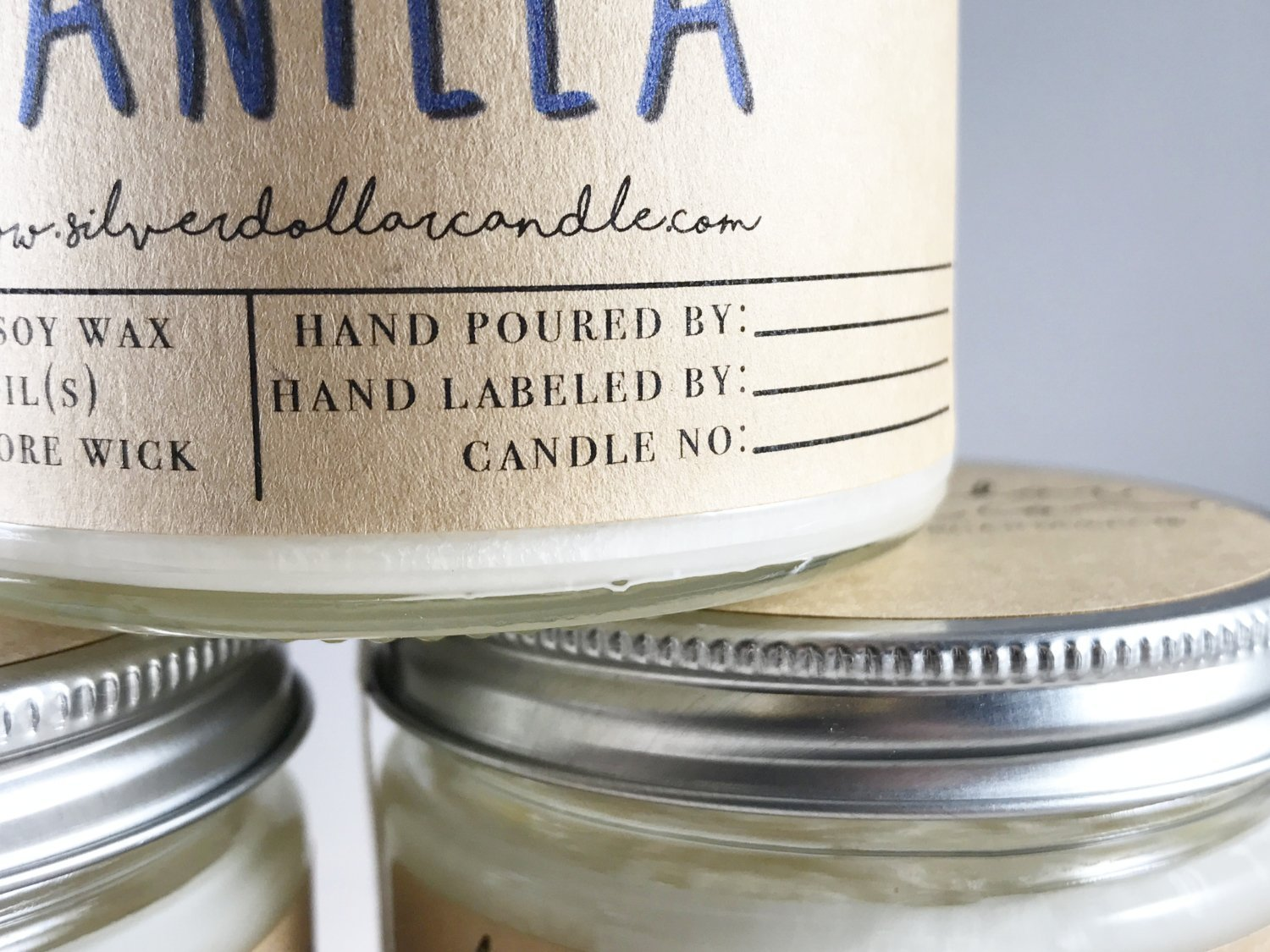 Personalized 8oz Handmade 100% Soy Wax Scented Candle by Silver Dollar Candle Co. by Silver Dollar Candle Co. (Image #6)