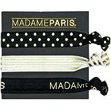 MadameParis - Elastiques à cheveux bracelet - Ruban pour cheveux et bracelet - Elastiques sans métal - Résistant et Souple - Accessoire original pour cheveux