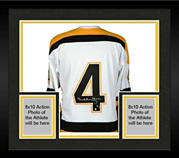 71438f2d1 Framed Bobby Orr Boston Bruins Autographed White Mitchell   Ness Jersey -  Fanatics Authentic Certified