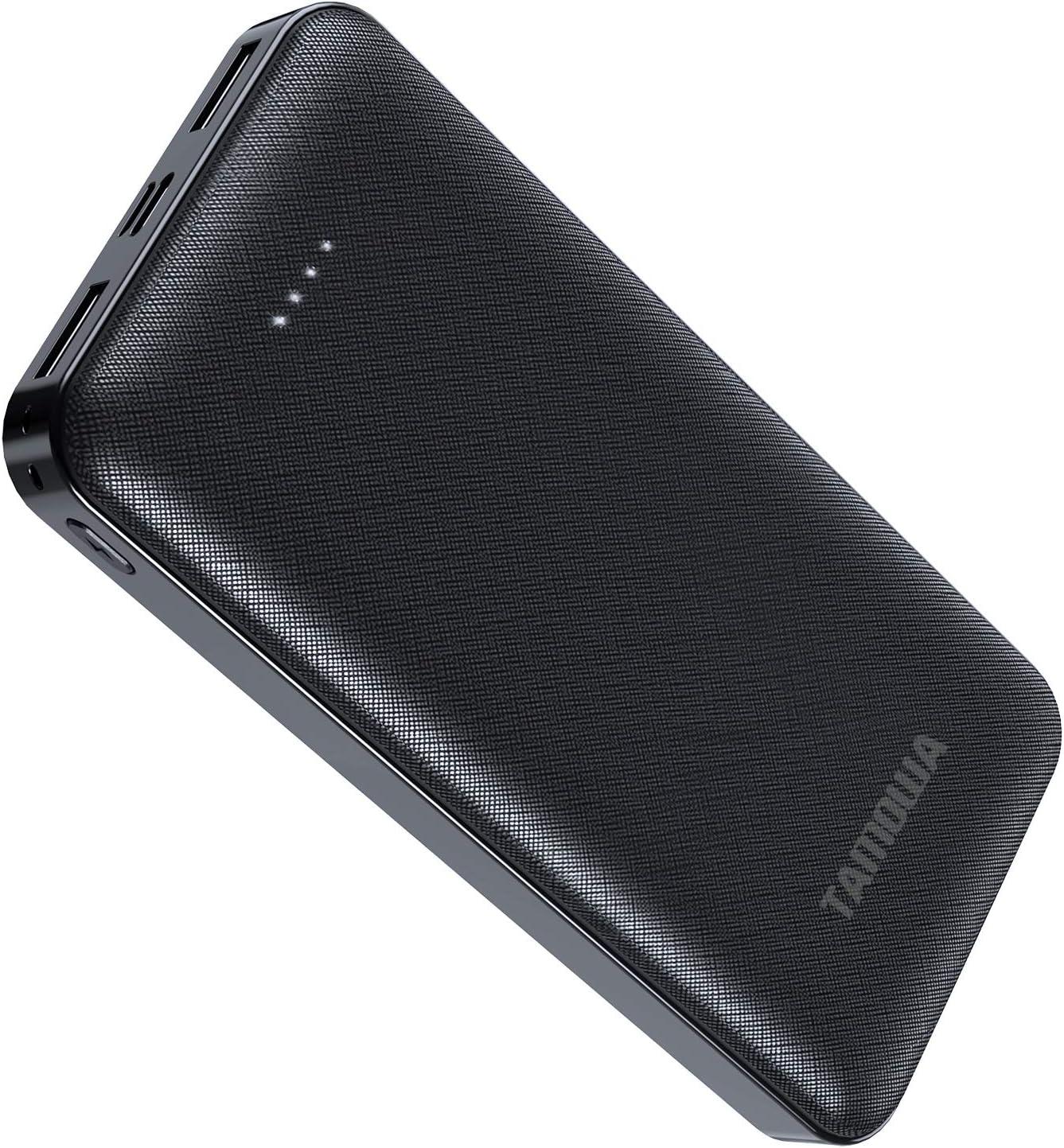 TAMOWA Bateria Externa Movil 20000mah Carga Rapida, USB-C Power Bank con PD 18W Power Delivery, Cargador Portátil Móvil con 3 Salida y 2 Entrada para iPhone,Samsung, Huawei, Xiaomi y Más, Negro