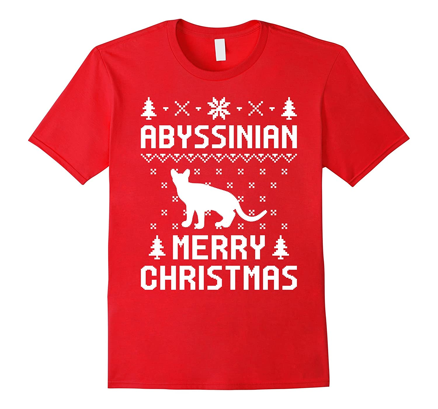 Abyssinian Christmas T-shirt, Ugly Christmas Sweater T-Shirt-AZP
