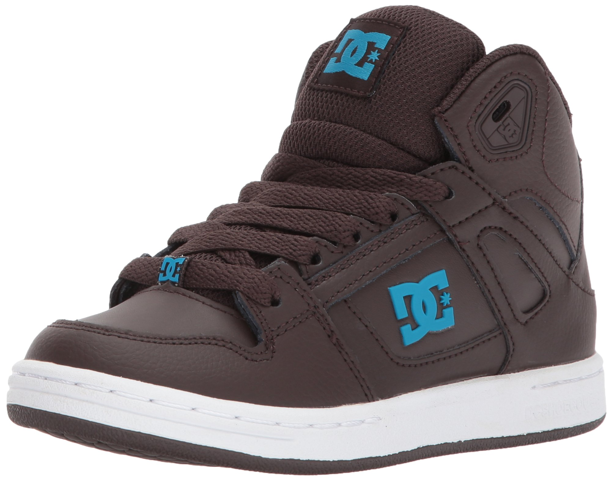 DC Shoes Youth Rebound Skate Shoe, Brown, 1.5 M US Little Kid