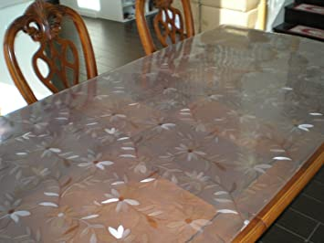 Soft Glass Daisies Design Custom Waterproof PVC Protector / PVC Pad For Desk,  Table,
