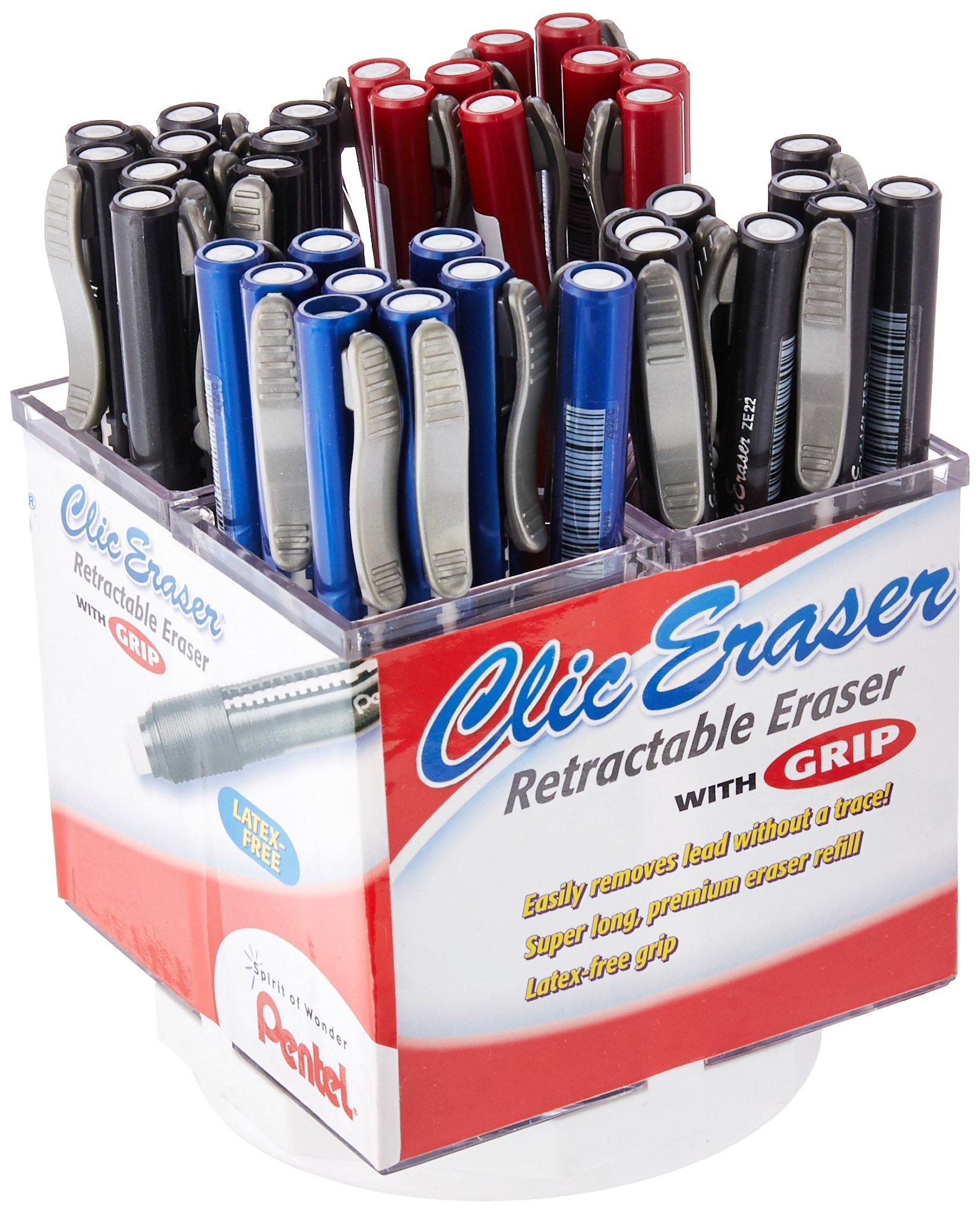 Pentel Clic Eraser Retractable Display Assortment (ZE22-5) by Pentel (Image #1)