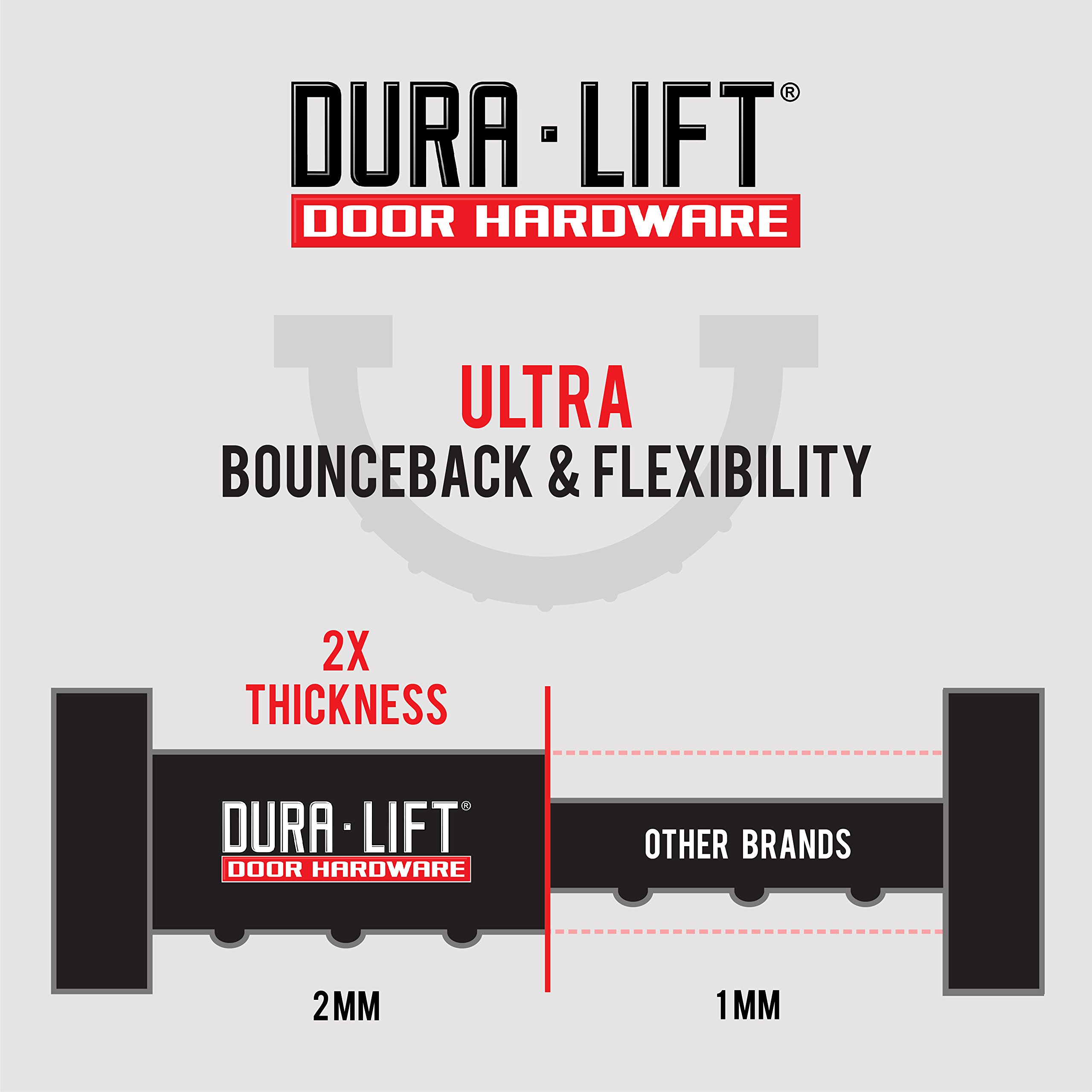 DURA-Lift Garage Door Double-T Rubber Weather Seal (for 8 Foot Wide Doors)
