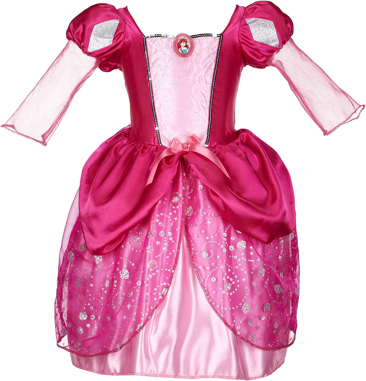 Amazon Com Disney Princess Ariel Pink Bling Ball Dress Clothing