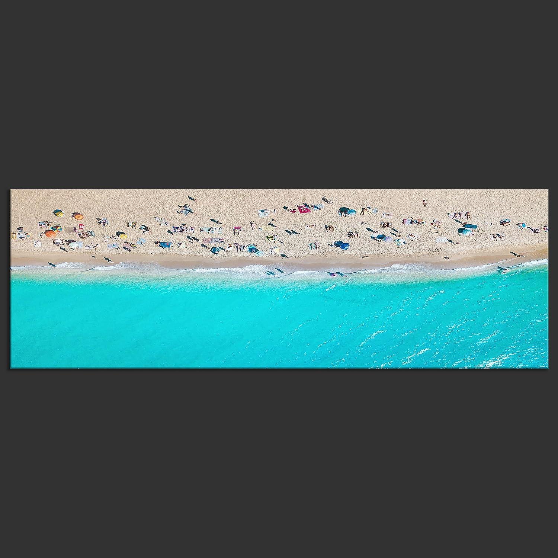 Decomonkey Akustikbild Abstrakt 135x45 135x45 135x45 cm 1 Teilig Bilder Leinwandbilder Wandbilder XXL Schallschlucker Schallschutz Akustikdämmung Wandbild Deko leise Boote Wasser blau 493224