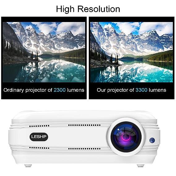 Amazon.com: 3200 lúmenes Proyector Full HD 1080p, leshp ...