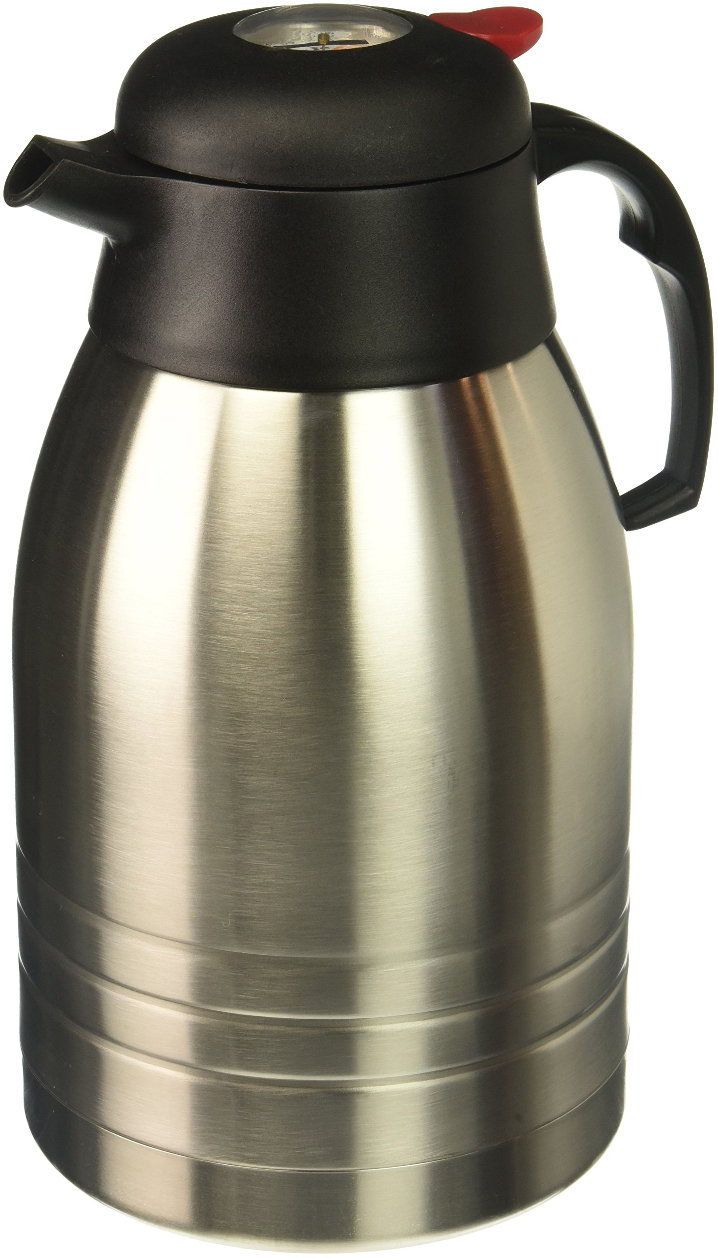 Primula 2-Liter Temp Assure Coffee Carafe, Stainless Steel/Black