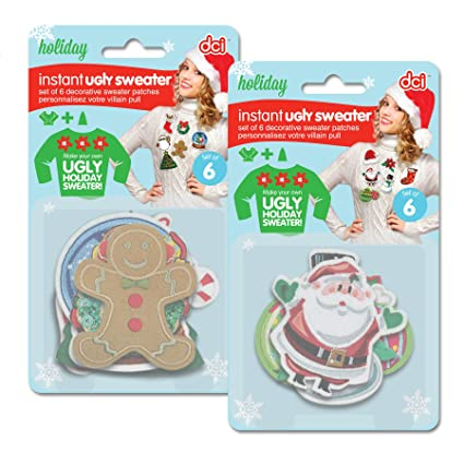 Amazoncom Dci Ugly Christmas Sweater Diy Ugly Sweater Kit 6