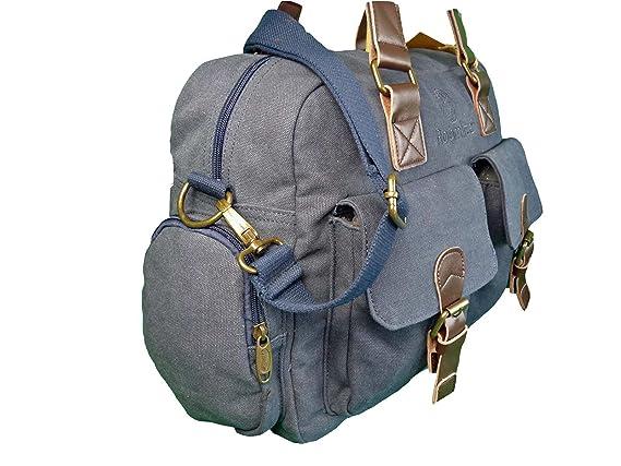 Bolso de viaje de lienzo de Roamlite; equipaje de mano, RL24M, azul marino (Negro) - RL24M: Amazon.es: Equipaje