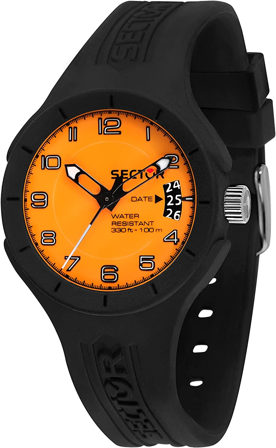 Sector No Limits Men s Speed Analog-Quartz Sport Watch with Silicone Strap, Black, 18 Model R3251514010