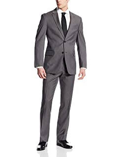 fdca80b3fd2fce Tommy Hilfiger Men's Nathan Two-Button Tailored Fit Suit at Amazon ...