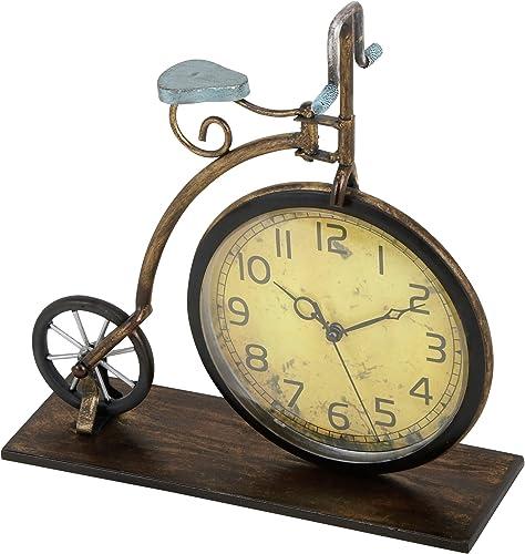 Deco 79 65817 Metal Clock, 13 x 12