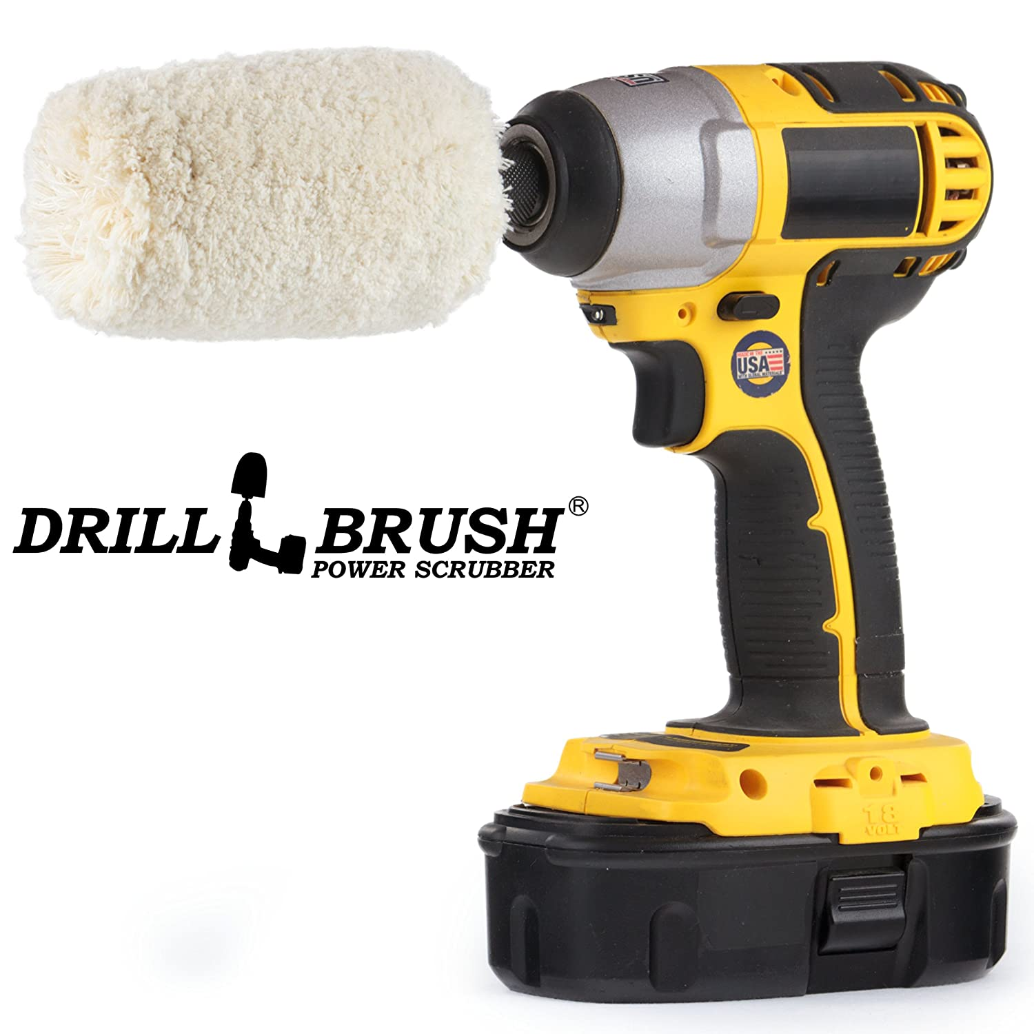Drill Brush - Soft - Cotton - Cone - Buffer Polisher - Car Buffer - Buffing Wheel - Polisher - Metal - Chrome - Stainless Steel - Aluminum - Titanium - Glass - Wood - Buffer - Wheels - Rims - Engine Drillbrush COT-WH-LBUFER
