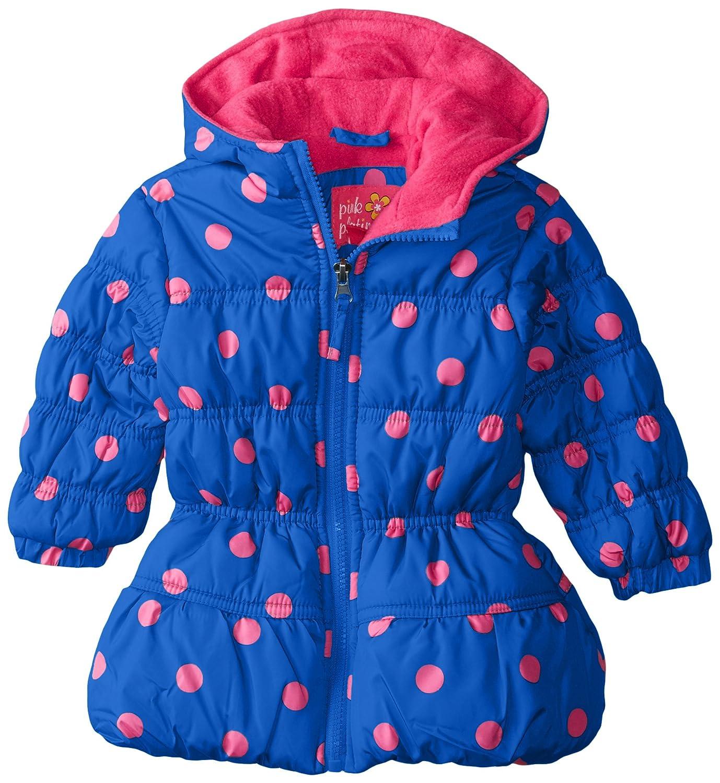 Pink Platinum Baby-Girls Baby Baby Poilka Dot Puffer Coat PP64066