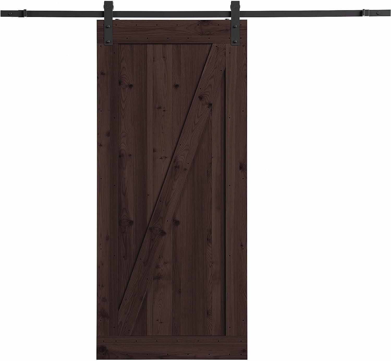 Amazon Com Northbeam Smoke Distressed Finish Farm Style Sliding Door Kit With Mounting Hardware Home Kitchen