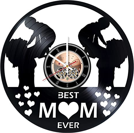Amazon Com Happy Mother Day Vinyl Record Wall Clock Home Room Or Living Room Wall Decor Gift Ideas For Women And Men Girls Mother Beautiful Unique Art Design Home Kitchen