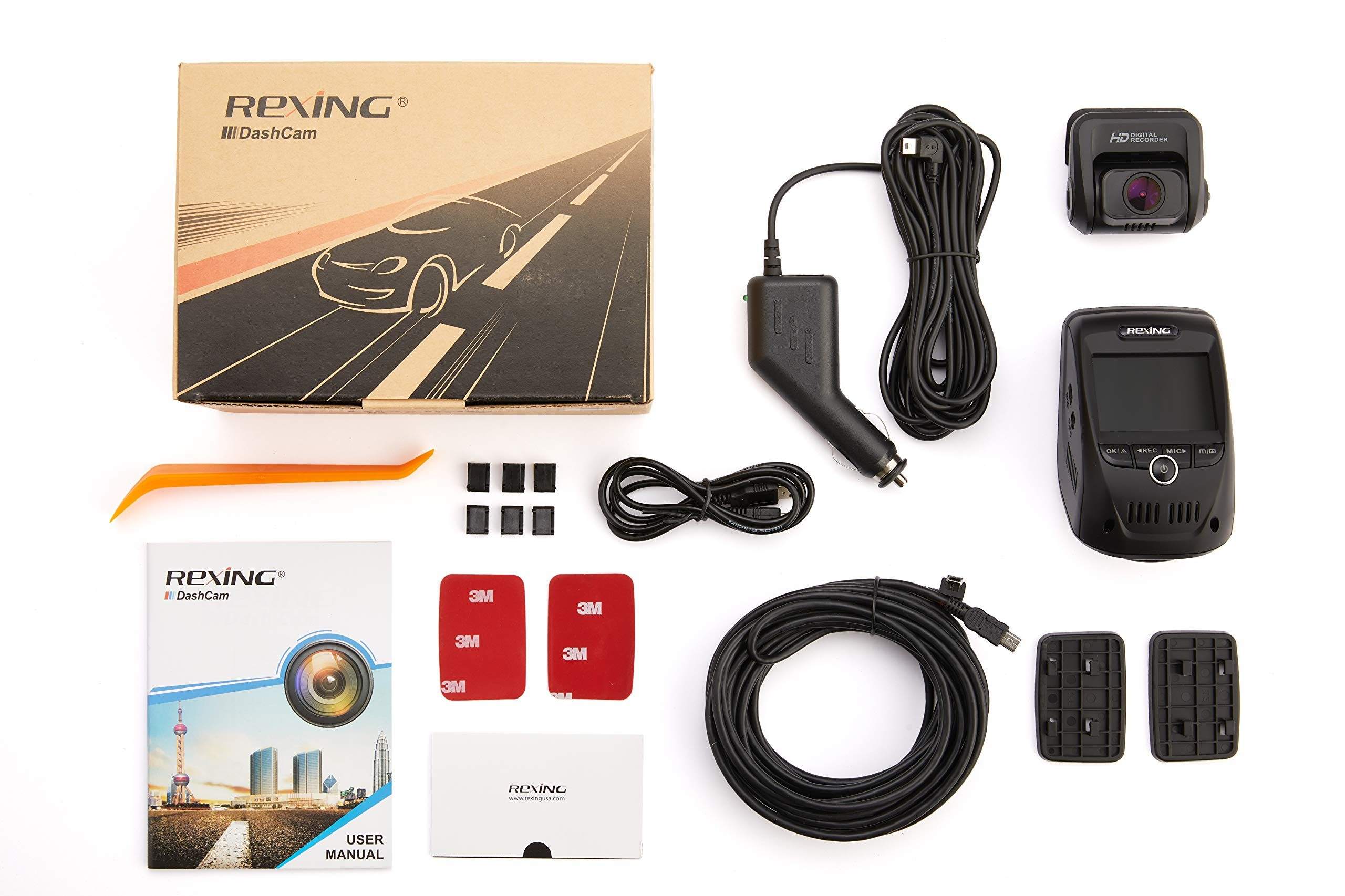 Rexing V1P 3rd Generation Dual 1080p Full HD Front and Rear 170 Degree Wide Angle Wi-Fi Car Dash Cam with Supercapacitor, 2.4'' LCD Screen, G-Sensor, Loop Recording, Mobile App by REXING (Image #10)