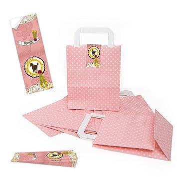 Logbuch-Verlag - Bolsas de papel con diseño de lunares rosa ...