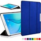 Forefront Cases® Samsung Galaxy Tab E 9.6 T560 (July 2015) Folding Case Cover Sleeve – Ultra Slim Lightweight with full device protection (BLUE)