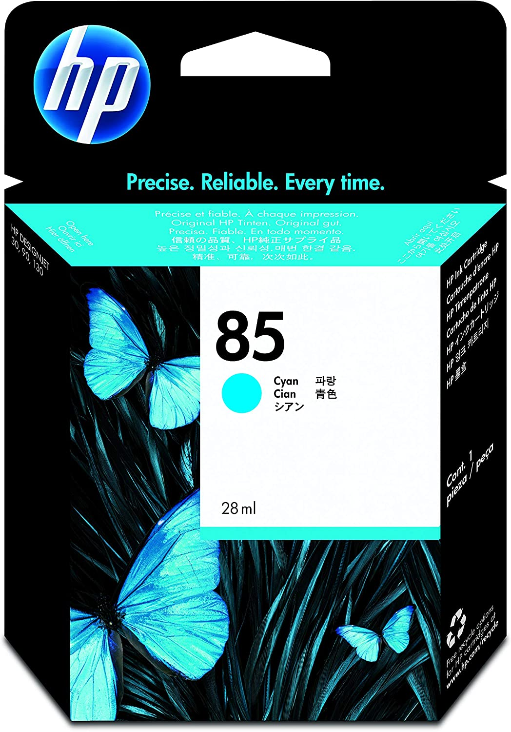 HP 85 Cyan Ink Cartridge (c9425a) for HP DesignJet 30, 130 Printers