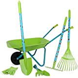 small foot wooden toys Large Garden Set with Wheelbarrow Designed for Children Ages 3+ Years