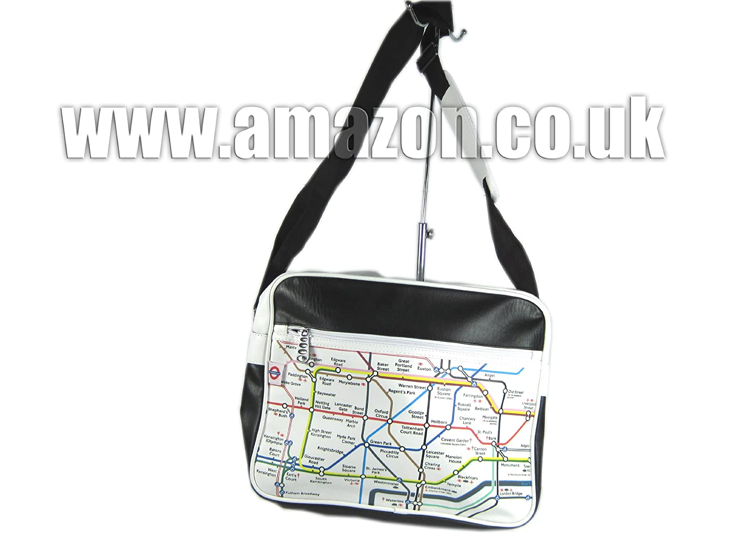 54609a4dae London Underground - Shoulder Bag (Black): Amazon.co.uk: Luggage