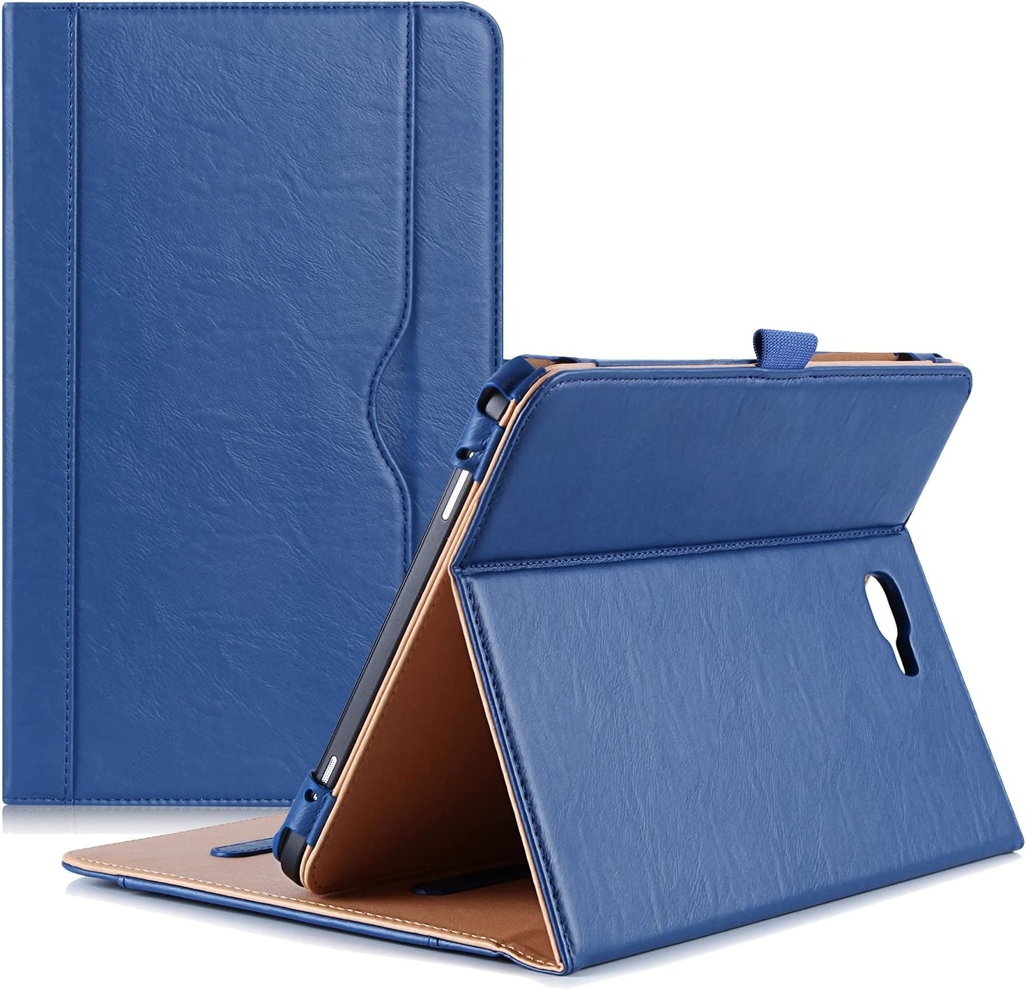"""ProCase Galaxy Tab A 10.1 Case 2016 - Stand Folio Case Cover for Galaxy Tab A 10.1"""" Tablet SM-T580 T585 T587 (NO S Pen Version), with Multiple Viewing Angles, Document Card Pocket - Navy"""