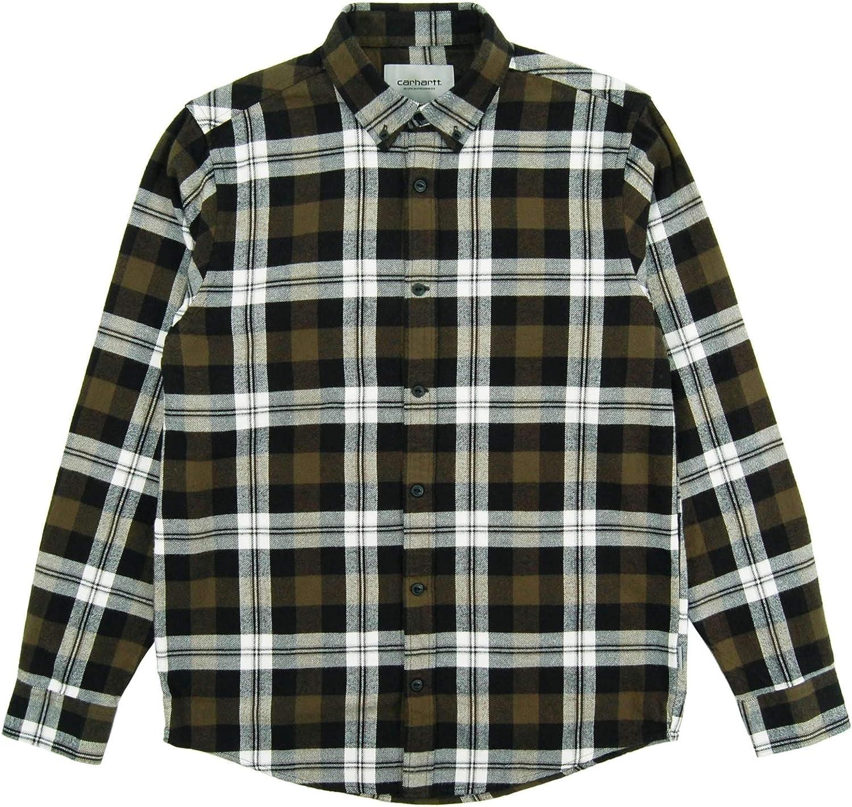 CARHARTT WIP - Camisa casual - para hombre Verde Garden Large: Amazon.es: Ropa y accesorios