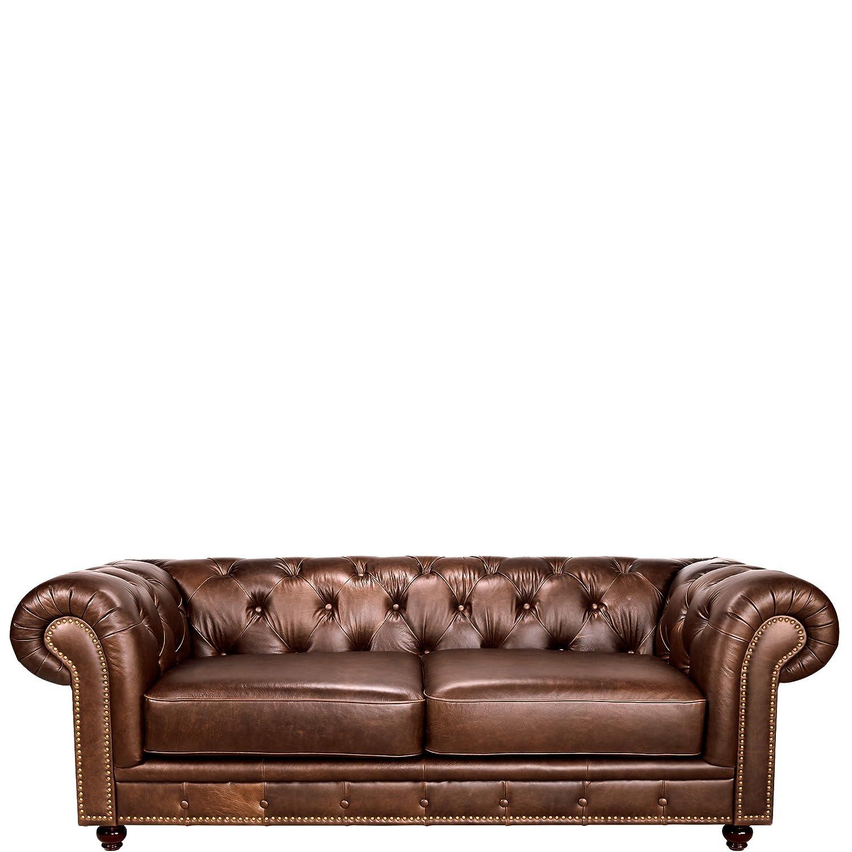 BUTLERS OLD ENGLAND Leder-Sofa