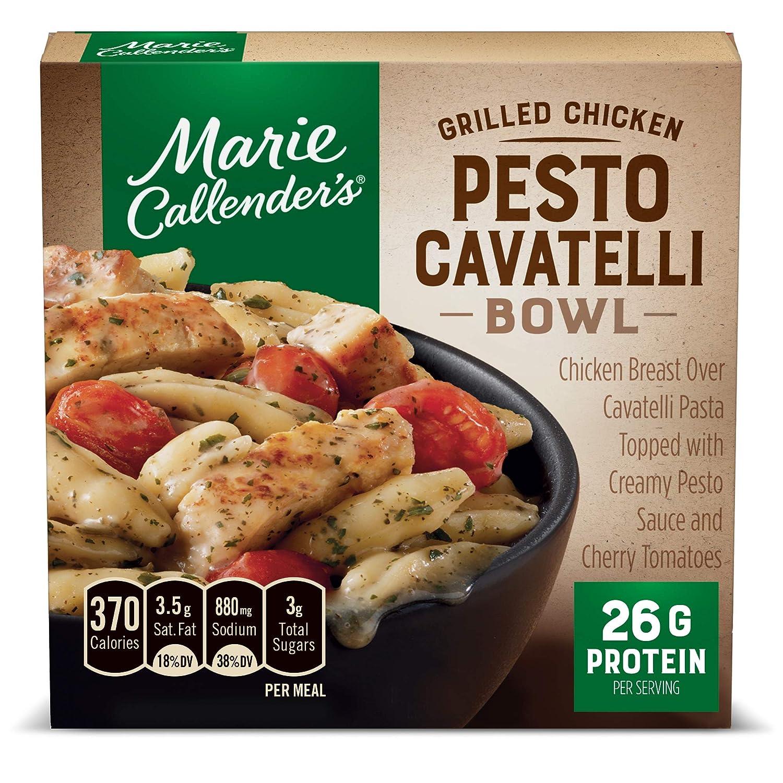 Marie Callender's Grilled Chicken Pesto Cavatelli Bowl, Frozen Pasta Meals, 11 Oz., (Frozen)