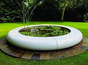 garden water features contemporary aqua orb fibreglass fountain
