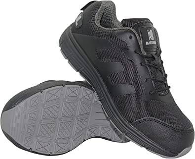 WOMENS LEATHER LIGHTWEIGHT SAFETY WORK TRAINER STEEL TOE CAP SHOE LADIES BOOTS S