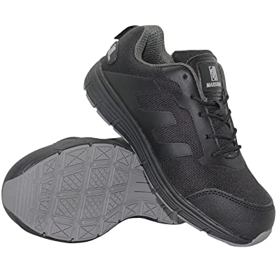 f43cc0bc12a Max Steel Mens Leather Lightweight Composite Toe Cap Safety Shoes Trainers  Womens Work Ladies Boots