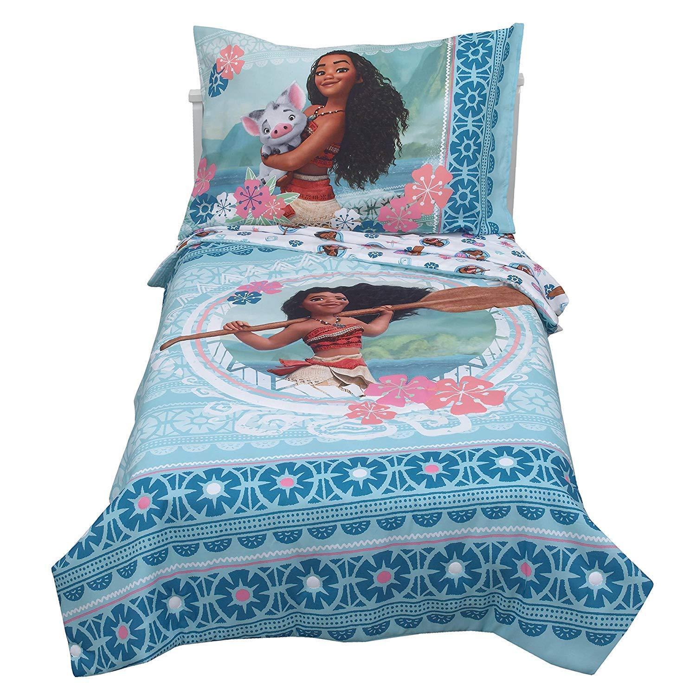 Disney Moana Aqua Toddler Bedding Set (4pc) franco