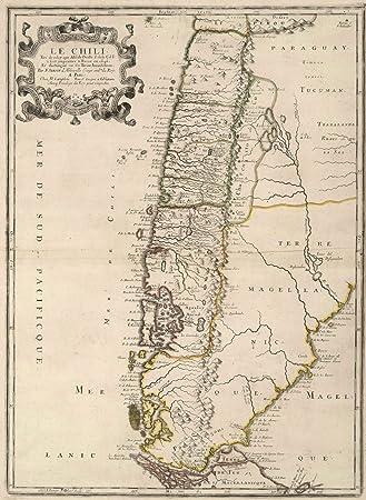 Amazon world atlas 1697 chile historic antique vintage map world atlas 1697 chile historic antique vintage map reprint gumiabroncs Gallery
