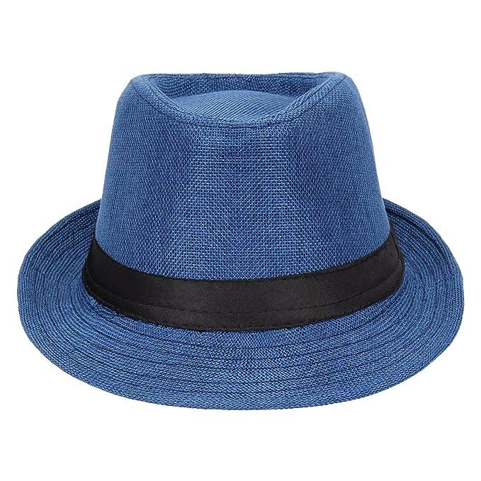 Kabello Cotton   Jute Unisex Structured Cotton Fedora Hat - Party wear Fedora  Hats 9466f29aeec