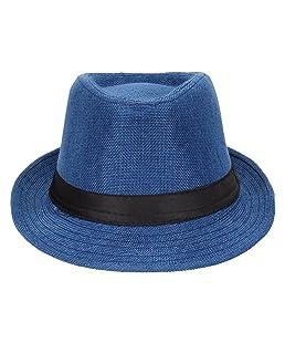 MAJIK Fedora Hats for Men Casual Wear (Blue), 20 Gram, Pack of 1