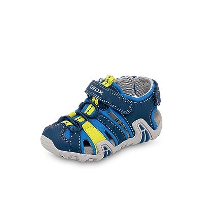 578ac1afd174b8 Geox Scarpe Baby Sandali in Pelle blu B8224A-01550-CF4N4 Blue ...