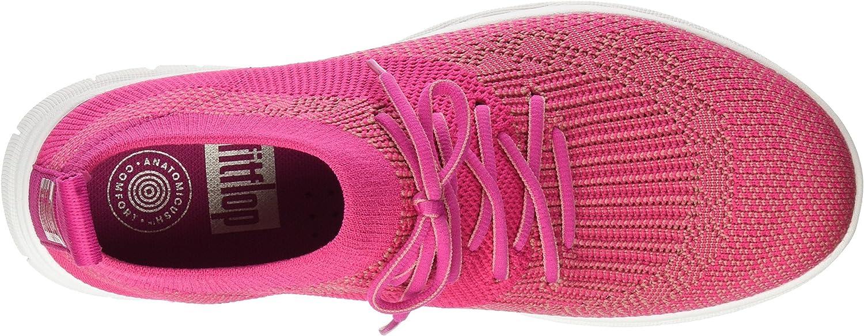 FitFlop Womens Uberknit Slip On High Top Sneakers Pink (Fuchsia/Dusky Pink 561)