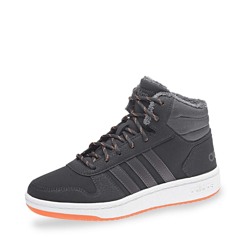 adidas Hoops Mid 2.0, Zapatos de Baloncesto Unisex Niñ os, Gris Carbon/Grefiv/Hireor, 36 2/3 EU Zapatos de Baloncesto Unisex Niños B75742