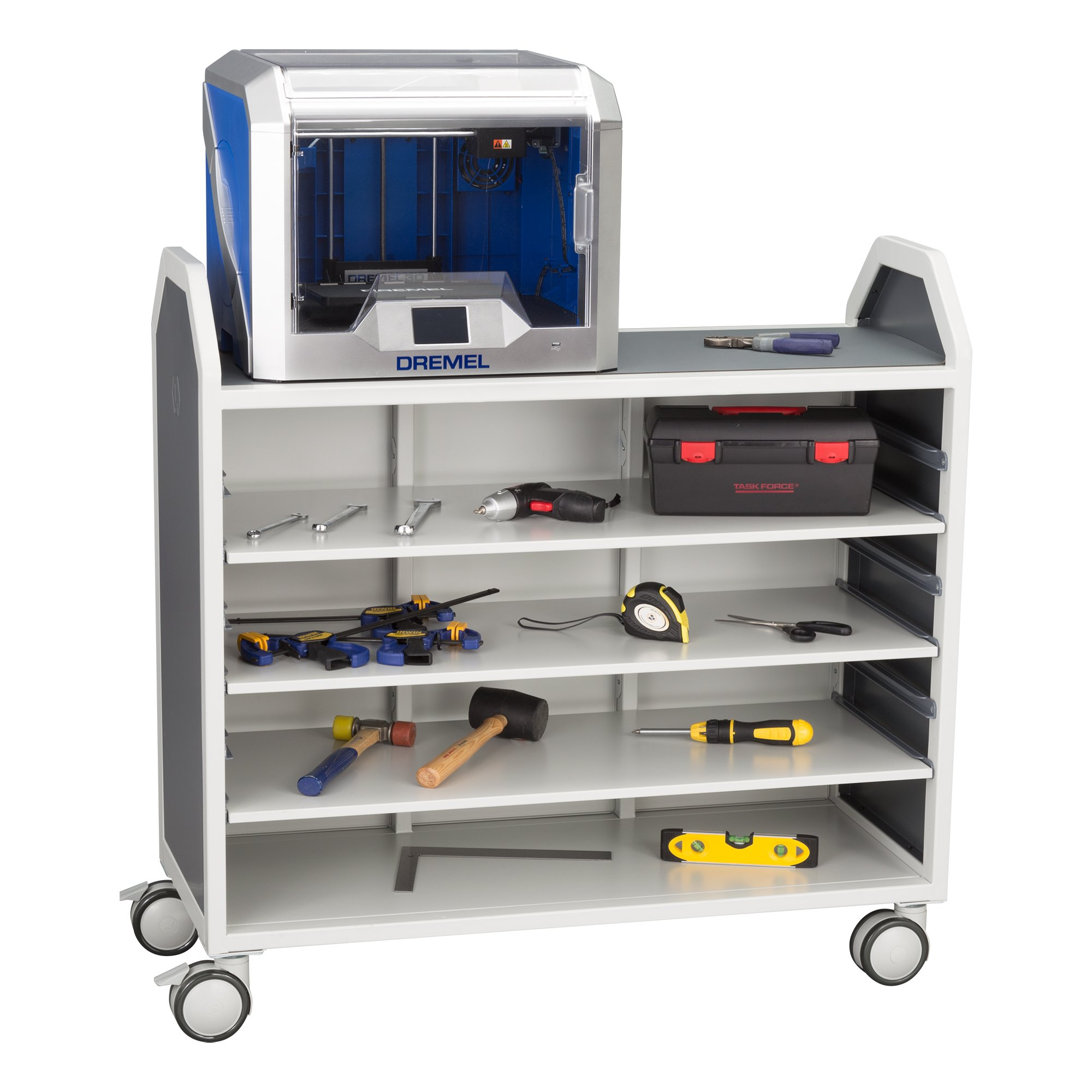 Learniture Profile Series Mobile Storage Cart with Adjustable Shelves, LNT-GNO3045-SO