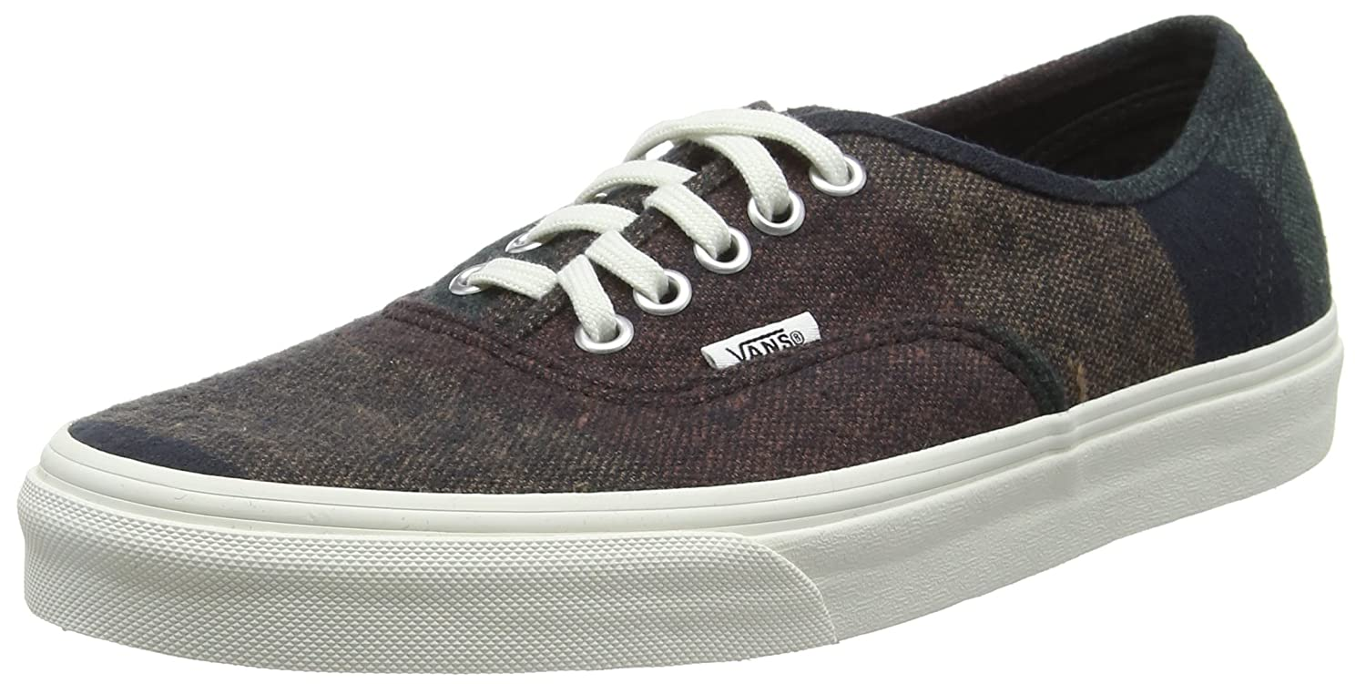 Vans Unisex-Erwachsene Authentic Low-Top  34.5 EU|Braun (Wool Stripes Multi/Blanc De Blanc)