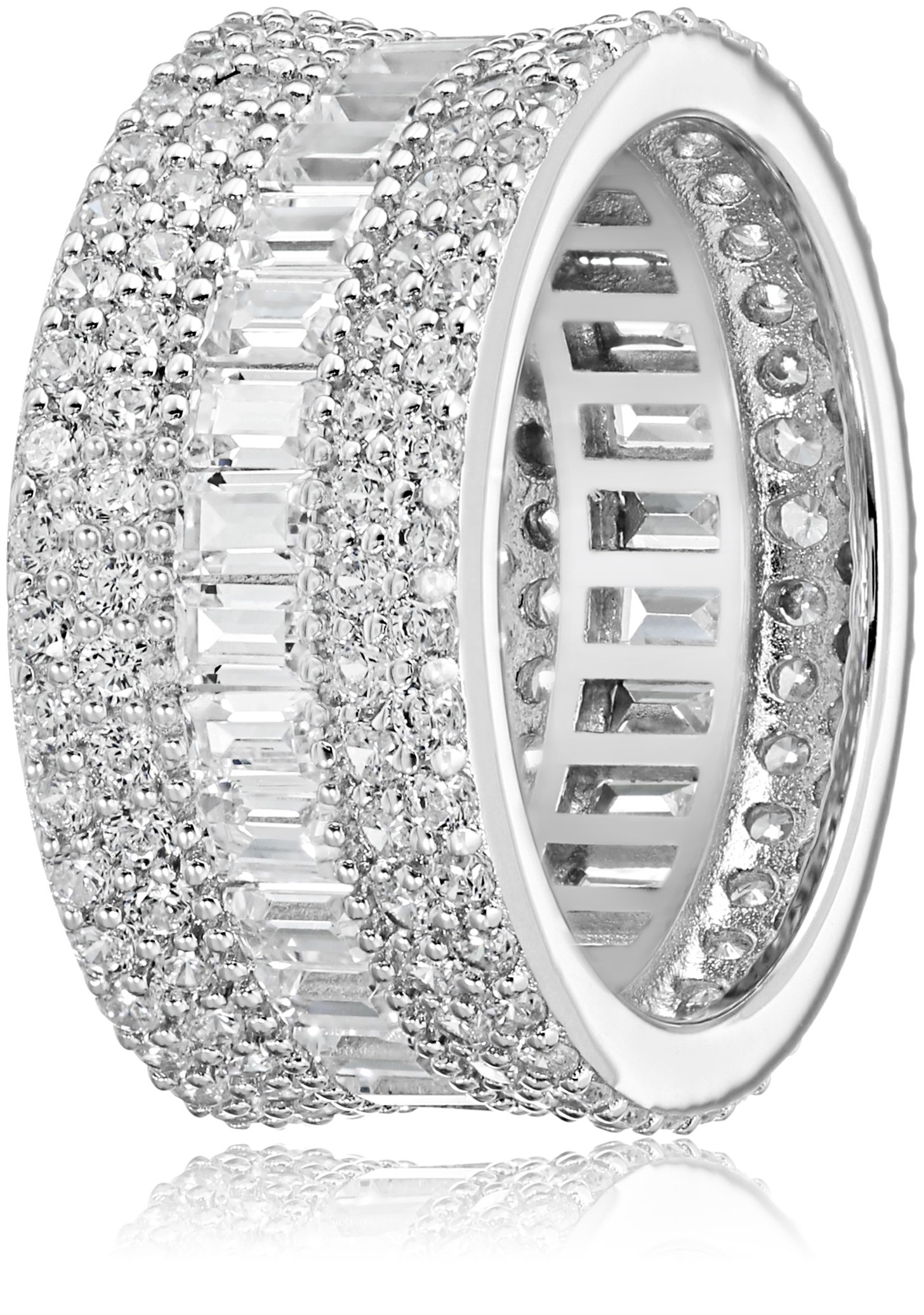 Charles Winston, Sterling Silver, Cubic Zirconia Baguette & Round Band, 5.60 ct. tw., Size 8 by Charles Winston (Image #2)