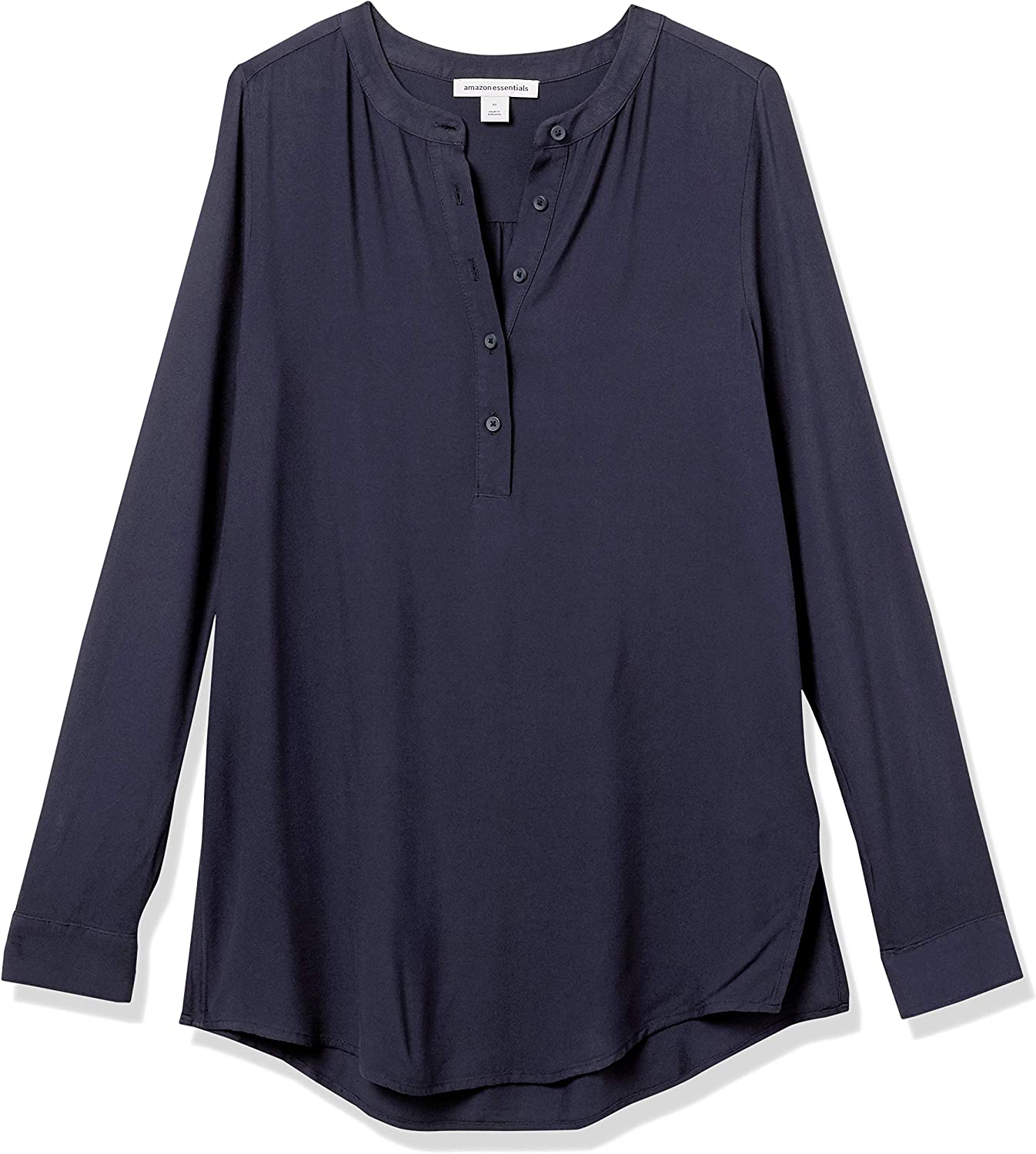 Dress-Shirts Donna Essentials Camicetta in Tessuto A Maniche Lunghe