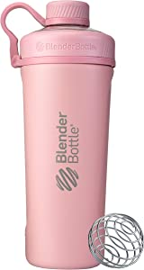 BlenderBottle Radian Insulated Stainless Steel Shaker Bottle, 26- Ounce, Rose Pink