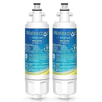 2 x Waterdrop LT700P reemplazo del filtro de agua del refrigerador para LG LT700P, ADQ36006101, ADQ36006102, 048231783705, Kenmore 46-9690: Amazon.es: Hogar