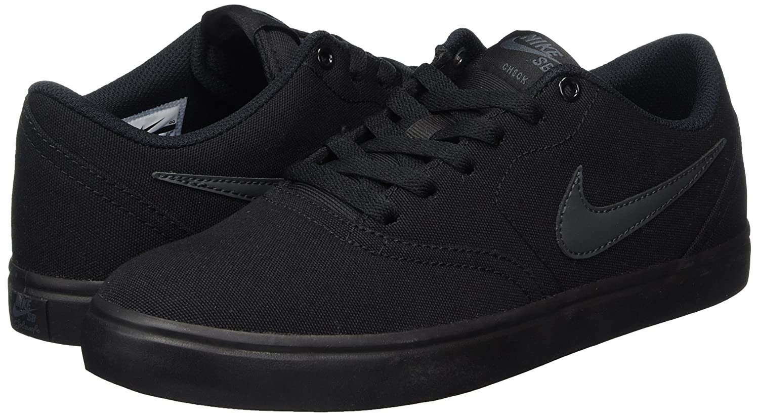 NIKE Men's SB Check Solarsoft Canvas Skateboarding Shoe B0178Q8AUU 8 D(M) US|Black/Anthracite